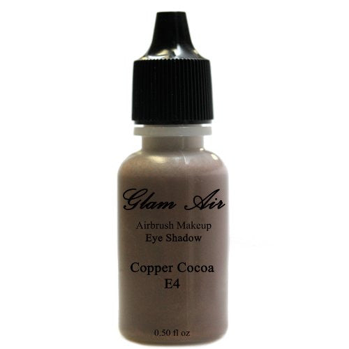 Large Bottle Glam Air Airbrush E4 Copper Cocoa Eye Shadow Water-based Makeup - Sexy Sparkles Fashion Jewelry - 1