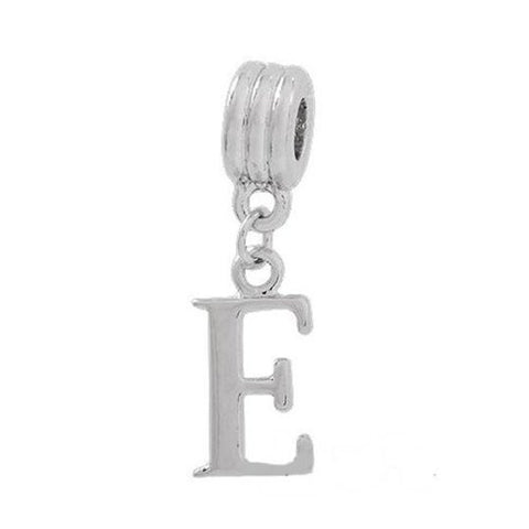 Alphabet Spacer Charm Beads Letter E for Snake Chain Bracelets - Sexy Sparkles Fashion Jewelry - 2