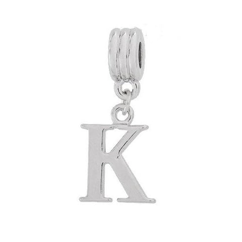 Alphabet Spacer Charm Beads Letter K for Snake Chain Bracelets - Sexy Sparkles Fashion Jewelry - 2