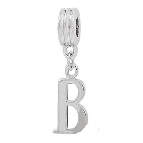 Alphabet Spacer Charm Beads Letter B for Snake Chain Bracelets - Sexy Sparkles Fashion Jewelry - 1