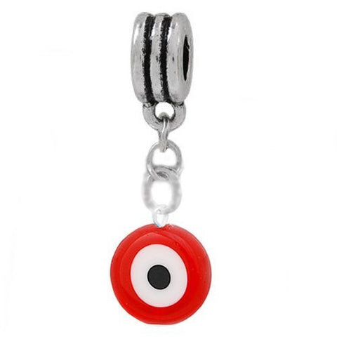 Red Evil Eye Dangle European Bead Compatible for Most European Snake Chain Charm Bracelet - Sexy Sparkles Fashion Jewelry - 2