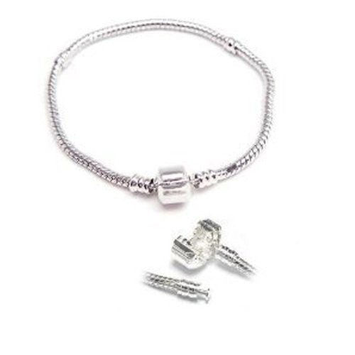 7.5 Inch Snake Chain Charm Bracelet for European Charms