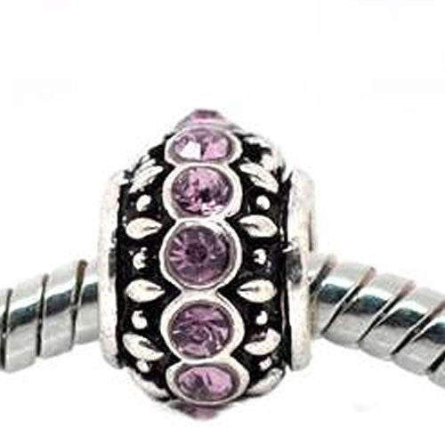 Amethyst Birthstone Charm Beads for Snake Chain Bracelets