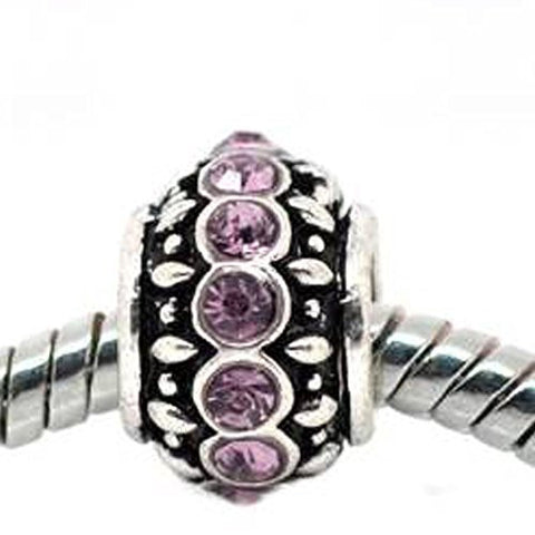 Amethyst Birthstone Charm Beads for Snake Chain Bracelets - Sexy Sparkles Fashion Jewelry - 1