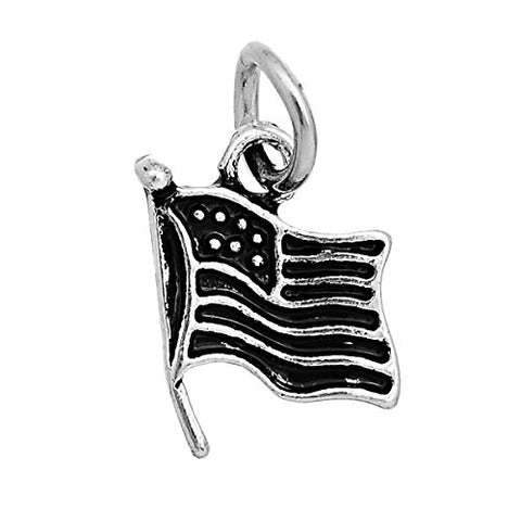 USA American Flag Charm Pendant For Necklace - Sexy Sparkles Fashion Jewelry - 1