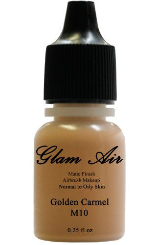 Glam Air Airbrush Makeup Foundation Water Based Matte M10 Golden Caramel (Ideal for Normal to Oily Skin) 0.25oz - Sexy Sparkles Fashion Jewelry - 1