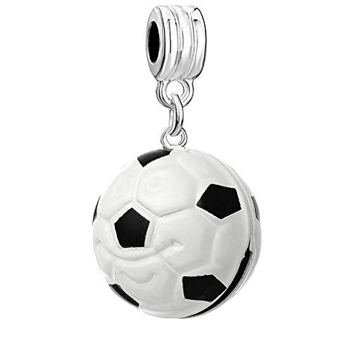 Christmas Ornament Soccer Ball Bead Compatible for Most European Snake Chain Bracelet - Sexy Sparkles Fashion Jewelry