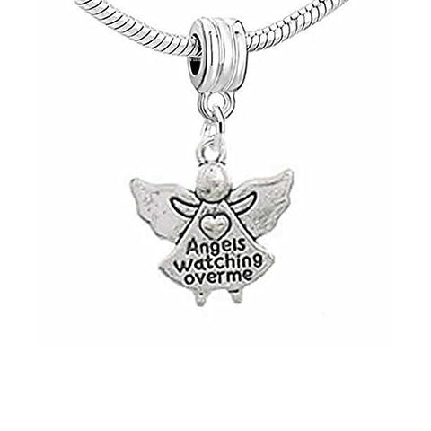 Angels Watching Over Me Dangle Charm European Bead Compatible for Most European Snake Chain Bracelet - Sexy Sparkles Fashion Jewelry - 1