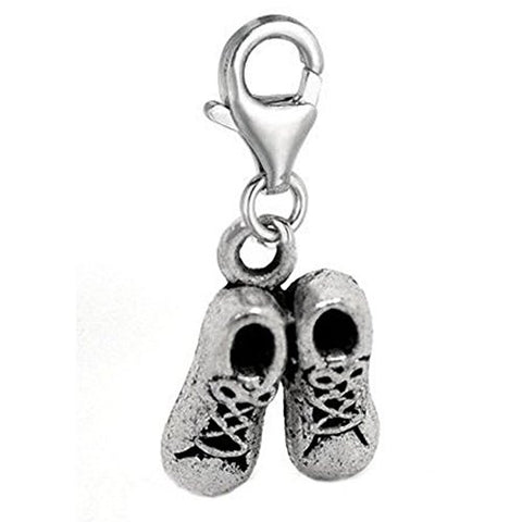 Clip on Shoes Charm Pendant for European Jewelry w/ Lobster Clasp - Sexy Sparkles Fashion Jewelry - 1
