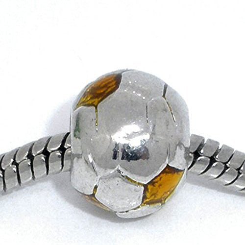 Gold Soccer Ball Charms for European Snake Chain Charm Bracelet