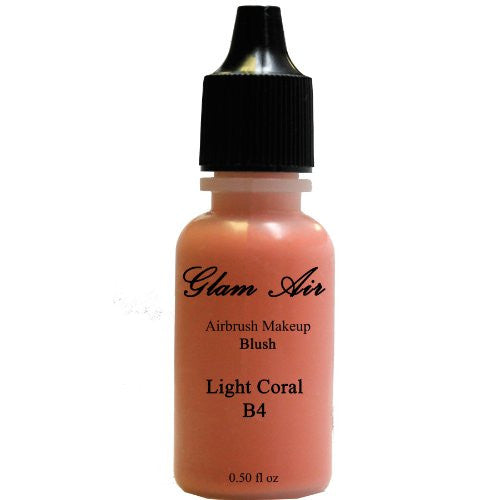 Large Bottle Glam Air Airbrush B4 Light Coral Blush Water-based Makeup 0.50 Oz - Sexy Sparkles Fashion Jewelry - 1