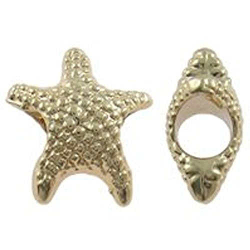 Star Fish Charm European Bead Compatible for Most European Snake Chain Bracelet