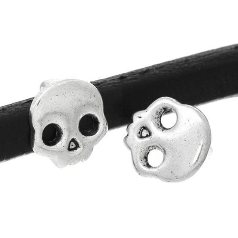 Charm Beads for Leather Bracelet/watch Bands or Wrist Bands (Skull) - Sexy Sparkles Fashion Jewelry - 3