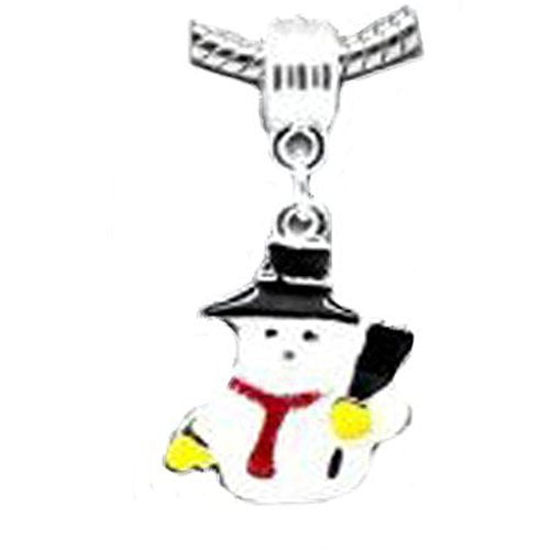 Christmas Snow Man Dangle Charms Your Favorites From for Snake Chain Bracelets