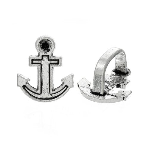 Anchor Charm Beads for Leather Bracelet/watch Bands or Wrist Bands - Sexy Sparkles Fashion Jewelry - 1