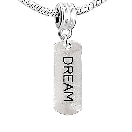 Dog Tag Inspiration/Strength Charm Bead (Dream)
