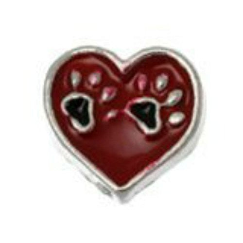 Bear Paw Floating Charm for Glass Living Memory Locket Pendant - Sexy Sparkles Fashion Jewelry