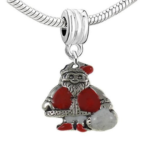 Christmas Santa Claus Dangle Charm European Bead Compatible for Most European Snake Chain Bracelet - Sexy Sparkles Fashion Jewelry