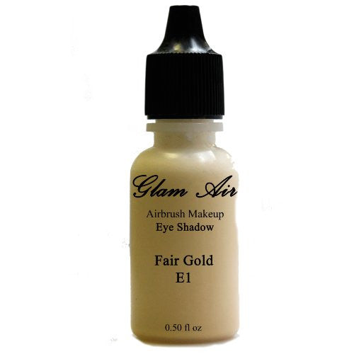 Large Bottle Glam Air Airbrush E1 Fair Gold Eye Shadow Water-based Makeup 0.50oz - Sexy Sparkles Fashion Jewelry - 1