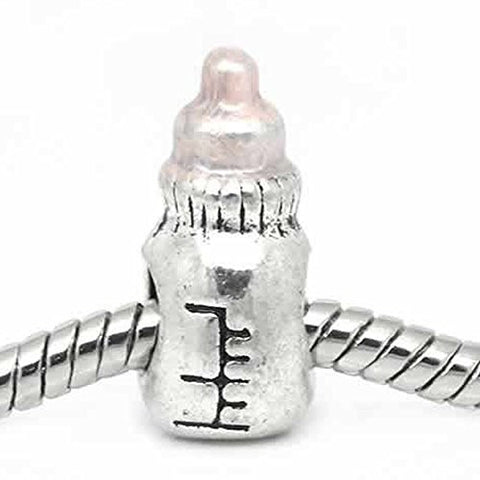 Baby Bottle Charm European Bead Compatible for Most European Snake Chain Bracelet - Sexy Sparkles Fashion Jewelry - 1