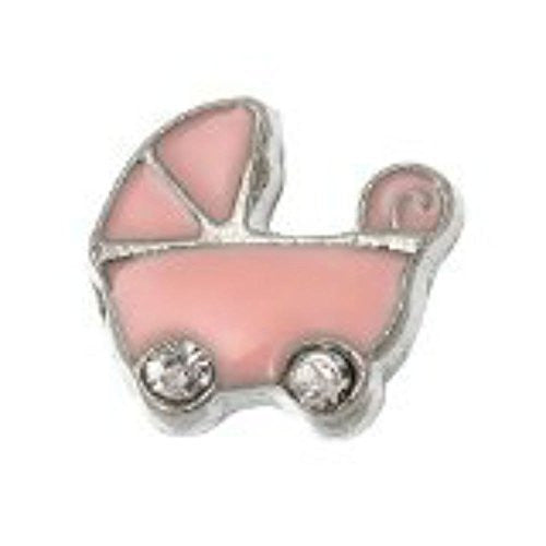 Baby Carriage Floating Charm for Glass Living Memory Locket Pendant - Sexy Sparkles Fashion Jewelry
