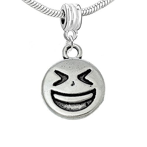 Facial Expression Charm for European Snake Chain Charm Bracelet (Laughing)