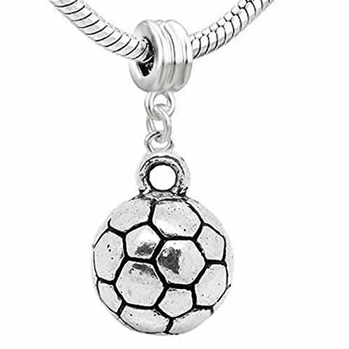 Football Charm Dangle European Bead Compatible for Most European Snake Chain Bracelet - Sexy Sparkles Fashion Jewelry - 1