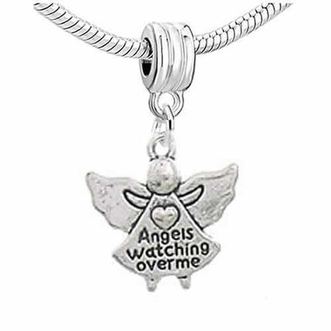 Angels Watching Over Me Dangle Charm European Bead Compatible for Most European Snake Chain Bracelet - Sexy Sparkles Fashion Jewelry - 2