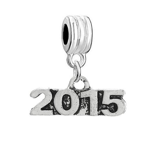 2015 Charm Dangle Bead Compatible with Snake Chain Bracelet