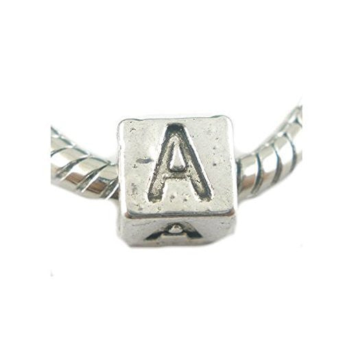 One Alphabet Block Beads Letter A for European Snake Chain Charm Braclets