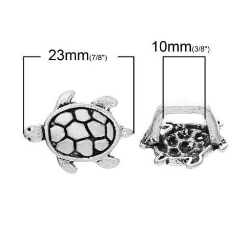 Charm Beads for Leather Bracelet/watch Bands or Wrist Bands (Turtle) - Sexy Sparkles Fashion Jewelry - 2