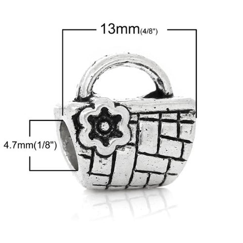 Picnic Basket Charm Compatible with Snake Chain Charm Bracelet - Sexy Sparkles Fashion Jewelry - 2