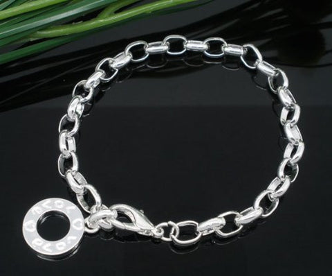 Silver Plated Bracelets Fit Link Chain Bracelet Charms 20cm - Sexy Sparkles Fashion Jewelry - 3