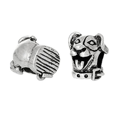 Cute Dog Head Charm Bead for European Snake Chain Charm Bracelet - Sexy Sparkles Fashion Jewelry - 3