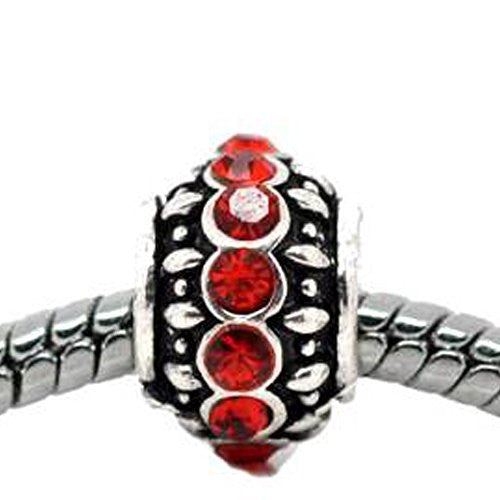 Birthstone  Charm European Bead Compatible for Most European Snake Chain Bracelet