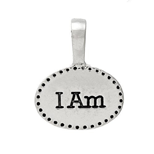 """ I Am"" Charm Bead Pendant for Most European Snake Chain Charm Bracelet - Sexy Sparkles Fashion Jewelry"