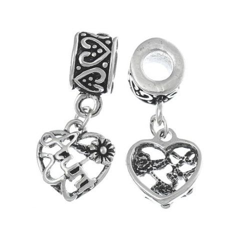 Aunt Love Heart Charm Bead - Sexy Sparkles Fashion Jewelry - 2