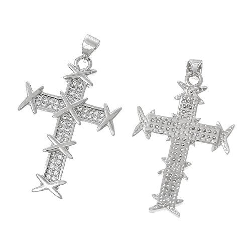 Cross Charm Pendant For Necklace - Sexy Sparkles Fashion Jewelry - 1