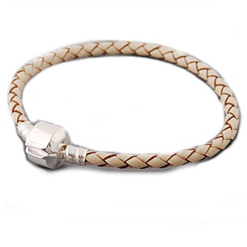 "High Quality Real Leather Bracelet Champagne  (7.75"")"
