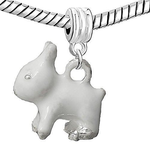 3 D Animal/Pet Bead Compatible for Most European Snake Chain Bracelets (Rabbit)