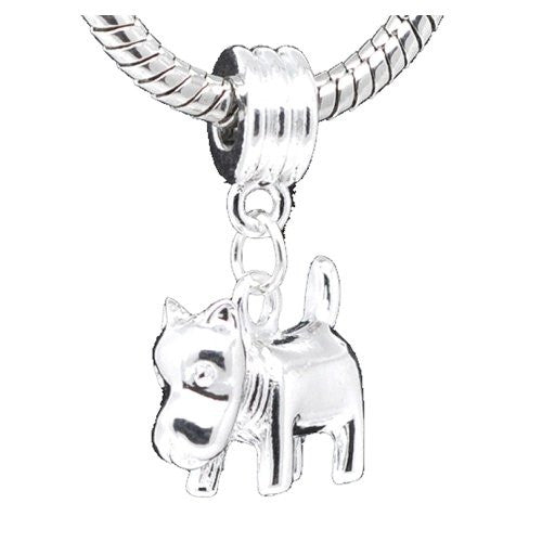 Mastiff Dog Charm for European Snake Chain Charm Bracelet