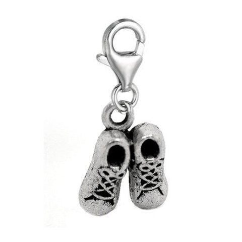 Clip on Shoes Charm Pendant for European Jewelry w/ Lobster Clasp - Sexy Sparkles Fashion Jewelry - 2
