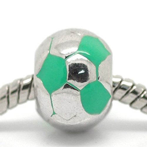Sports Turquoise Soccer Ball Charms for European Snake Chain Charm Bracelet