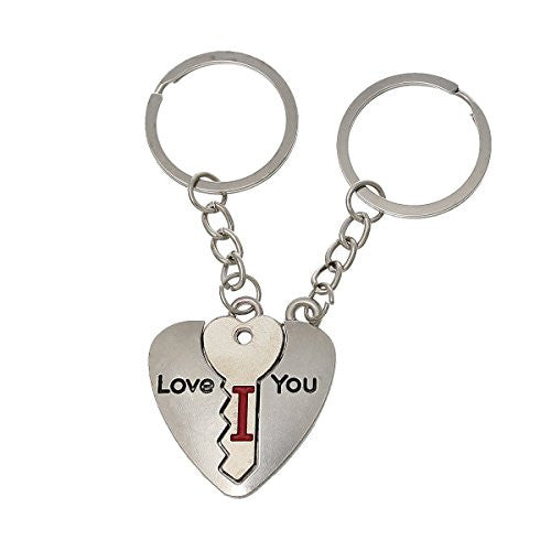 2 Piece I love you Silver Tone Love You Set Key Chain for Couples - Sexy Sparkles Fashion Jewelry - 1