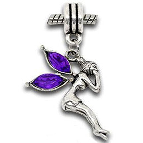 Fairy Dangles in Assorted s to Choose From For Snake Chain Bracelet (Purple)