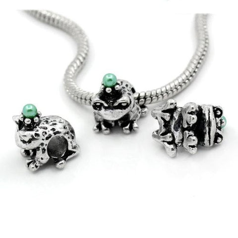 Prince Frog Bead Spacer for Snake Chain Charm Bracelet - Sexy Sparkles Fashion Jewelry - 3