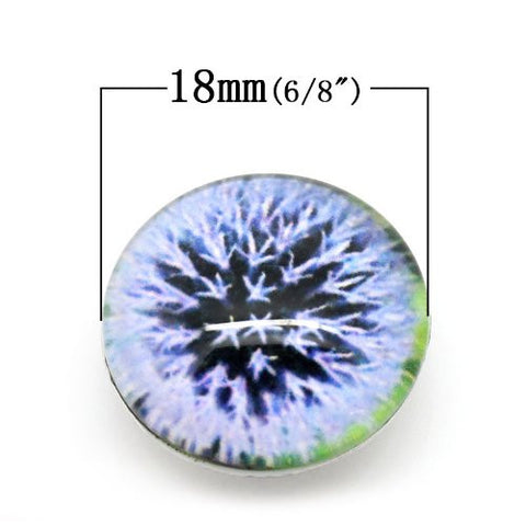 Dandelion Design Glass Chunk Charm Button Fits Chunk Bracelet - Sexy Sparkles Fashion Jewelry - 2
