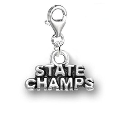 State Champs Clip On For Bracelet Charm Pendant for European Charm Jewelry w/ Lobster Clasp