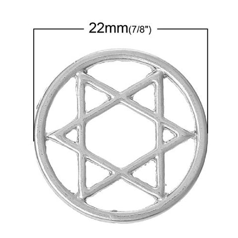 Star Of David Floating Charms Dish Plate for Glass Locket Pendants and Floating - Sexy Sparkles Fashion Jewelry - 2