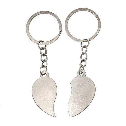 2 Piece True Love Silver Tone Love You Set Key Chain for Couples - Sexy Sparkles Fashion Jewelry - 3
